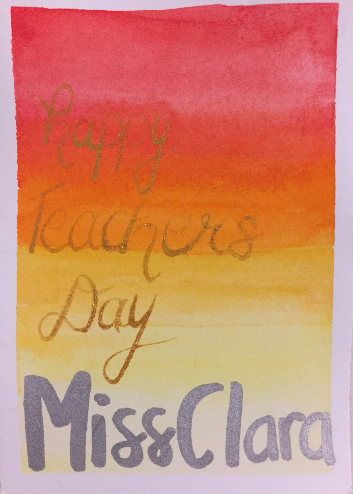 Picture of Teachers' Day Card for Piano Teacher Clara